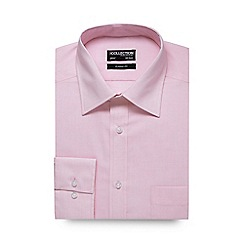 The Collection - Big and tall light pink puppytooth print formal shirt