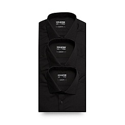 The Collection - Pack of three black long sleeve formal shirts