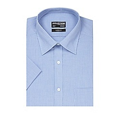 The Collection - Big and tall blue fine textured shirt