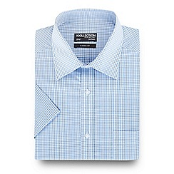 The Collection - Big and tall light blue gingham checked print shirt