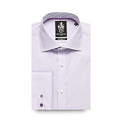 Jeff Banks - Big and tall lilac circle textured formal shirt