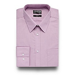 The Collection - Pink easy care slim fit shirt