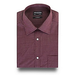 The Collection - Maroon checked print short sleeve regular fit