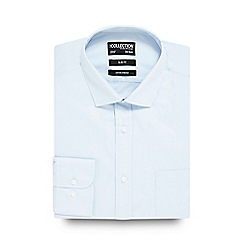 The Collection - Big and tall light blue slim fit shirt