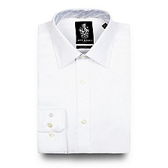 Jeff Banks - Big and tall white jacquard tailored fit shirt