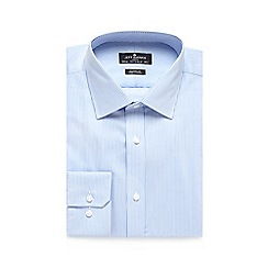Jeff Banks - Big and tall light blue striped print regular fit shirt