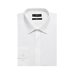 J by Jasper Conran - Big and tall white placket slim fit shirt