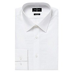 Jeff Banks - Big and tall designer white tailored point collar shirt