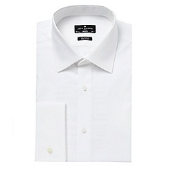 Jeff Banks - Big and tall designer white tailored semi cutaway collar shirt