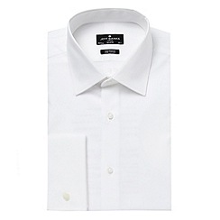 Jeff Banks - Big and tall designer white tailored cutaway collar shirt