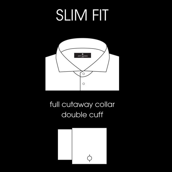 shirt Banks Big white Jeff designer slim cutaway and collar tall OSUqwv