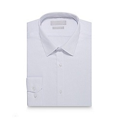 Red Herring - White dobby textured slim fit shirt