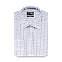 The Collection - Big and tall white grid print shirt