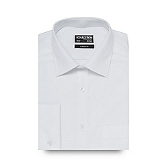 The Collection - White textured regular fit shirt