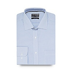 The Collection - Big and tall blue textured slim fit shirt