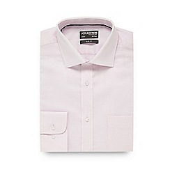 The Collection - Pink cross textured slim fit shirt