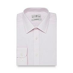 J by Jasper Conran - Big and tall light pink dotted slim fit shirt