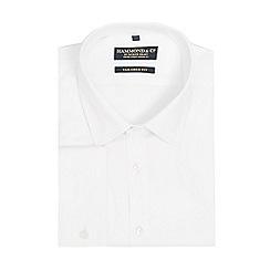 Hammond & Co. by Patrick Grant - Big and tall white fine twill tailored fit shirt