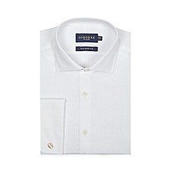 Osborne - White textured tailored fit shirt