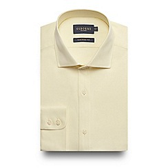 Osborne - Big and tall yellow tailored fit shirt