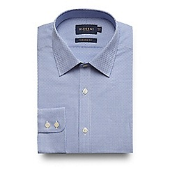 Osborne - Big and tall blue basket woven tailored fit shirt