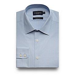 Osborne - Big and tall blue striped shirt