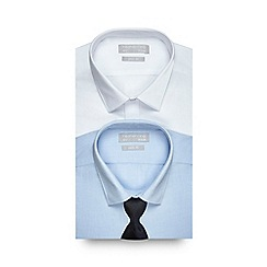Red Herring - Pack of two blue and white slim fit shirts with tie