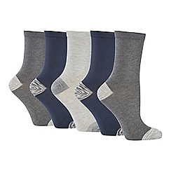 The Collection - 5 pack supersoft space dye ankle socks