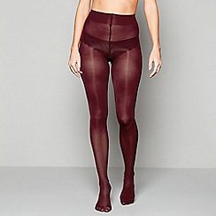 J by Jasper Conran - Wine red opaque 60 denier tights