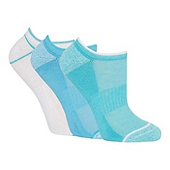 The Collection - 3 pack blue arch support trainer socks