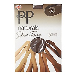 Pretty Polly - Natural 8 denier 'Shade 6' tights