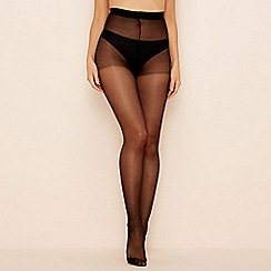 Pretty Polly - Black heart back seam tights