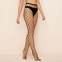 Pretty Polly - Black large fishnet tights