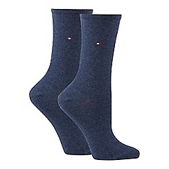 Tommy Hilfiger - 2 pack navy cotton ankle socks