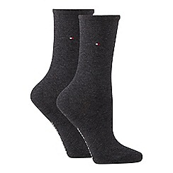 Tommy Hilfiger - 2 pack grey cotton ankle socks