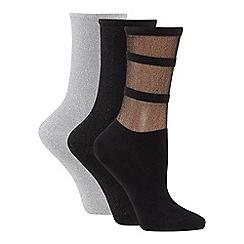 Tommy Hilfiger - 3 pack seasonal gift box glitter ankle socks