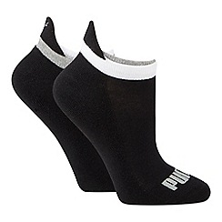 Puma - 2 pack black cotton rich trainer socks