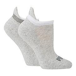 Puma - 2 pack blue cotton rich trainer socks