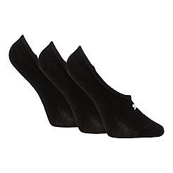 Puma - 3 pack black cotton blend footsie socks
