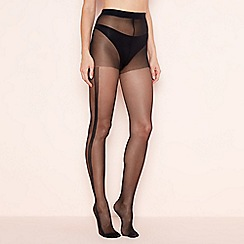 Pretty Polly - Black side stripe sheer tights