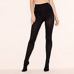Pretty Polly - Black ribbed tights