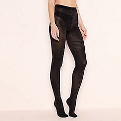 J by Jasper Conran - Black sparkle ribbed tights