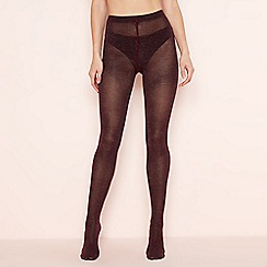 The Collection - Wine red glitter finish tights