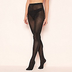 The Collection - Dark grey glitter finish tights