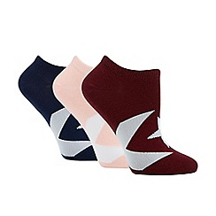 Converse - 3 pack multi-coloured ultra low socks