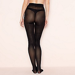 Pretty Polly - Black glitter back seam tights