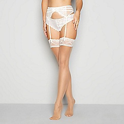 J by Jasper Conran - Natural sheer lace top 15 denier stockings