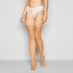 J by Jasper Conran - Natural sheer lace top 10 denier hold-ups