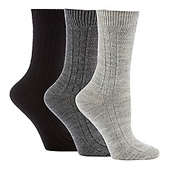 The Collection - 3 Pack Grey Thermal Socks