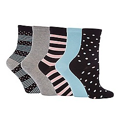 The Collection - 5 Pack Spot Ankle Socks